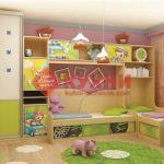 Шкаф купе в детскую с рисунком